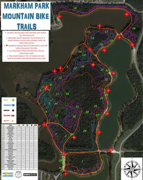 markham park bike map