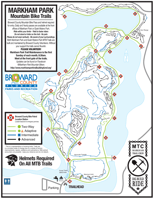 markham park bike trail map