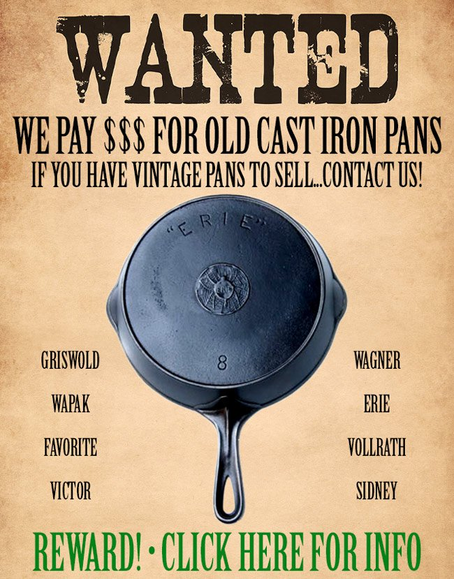 sell your vintage cast iron pans